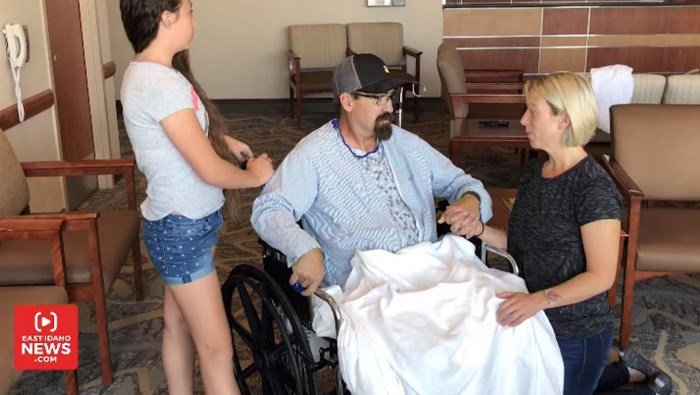 Doctors say Justin Firth's long-term prognosis is good after surviving being impaled by a hay bale spear. (Source: East Idaho News/CNN)