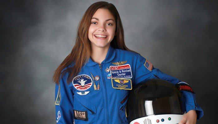Alyssa Carson is the youngest graduate of the PoSSUM Academy at Embry-Riddle Aeronautical University. (Source: Bert Carson)