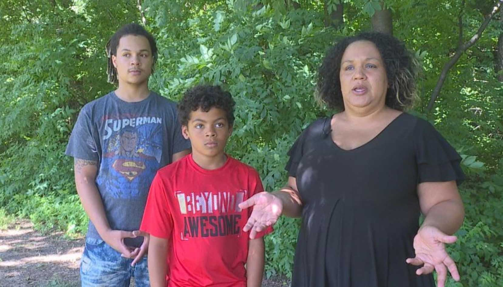 A family says they were the subject of racial profiling after the police were called on them while they were delivering newspapers. (Source: WSYX via CNN)