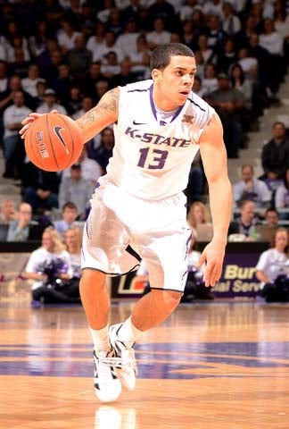 "Southern Mississippi students chanted ""Where's your green card?"" towards freshman guard Angel Rodriguez, pictured. (Source: Kansas State Athletic Department)"
