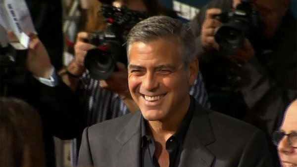 Oscar winner George Clooney hits the red carpet in Beverly Hills, CA. (Source: CNN)
