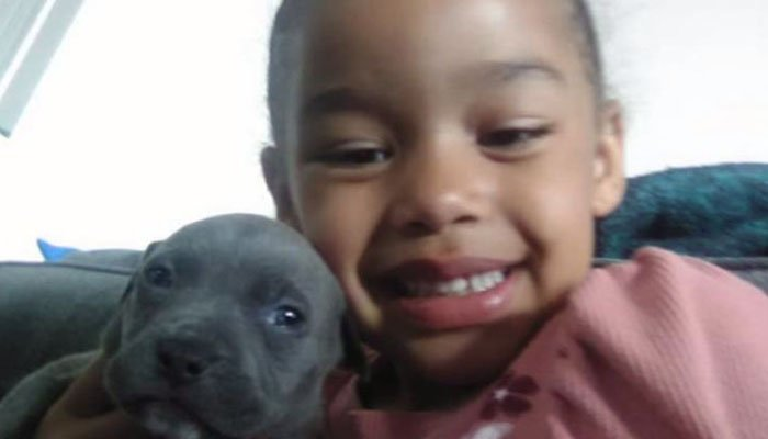 Devine Howard, 6, and her older sister are waiting for their pit bull puppy, Roxy, to come home. (Source: Howard family/KCPQ/CNN)