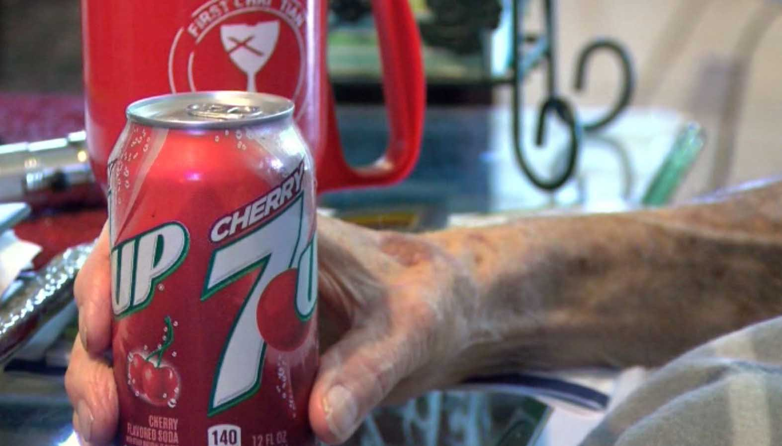 A dying man's seemingly simple request brought strangers together on a mission to get Cherry 7-Up in Abilene, TX. (Source: KTAB via CNN)