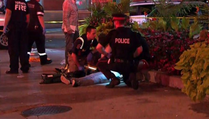 Two female victims died as a result of the mass shooting in Toronto Sunday night. (Source: CTV Network/CNN)
