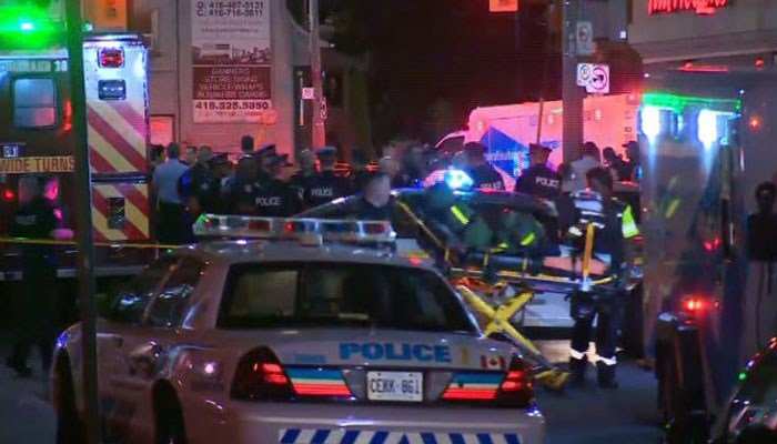 The suspected shooter died of a gunshot wound on scene, according to police. (Source: CBC News/CNN)