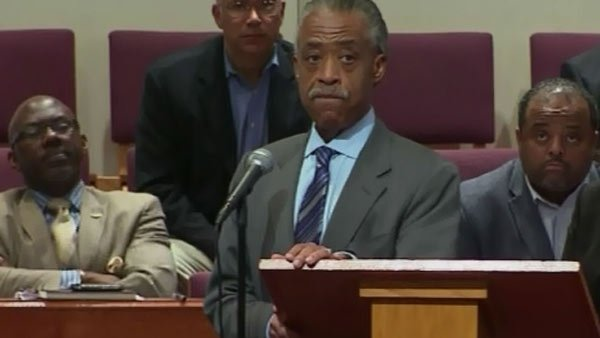 The Rev. Al Sharpton spoke at the town hall meeting. (Source: CNN)