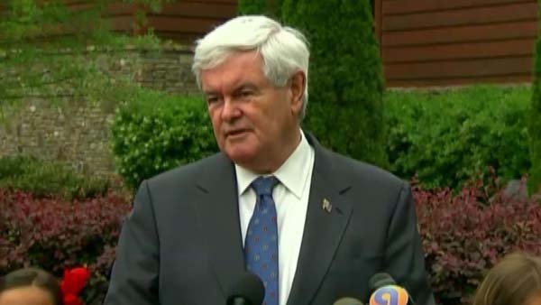 Former Speaker of the House Newt Gingrich addresses supporters at a campaign event in Charlotte, NC. (Source: CNN)