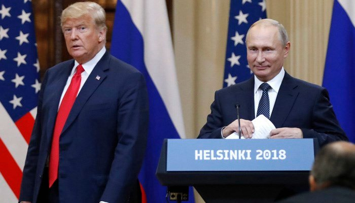 What's the deal with the Trump-Putin press conference video?