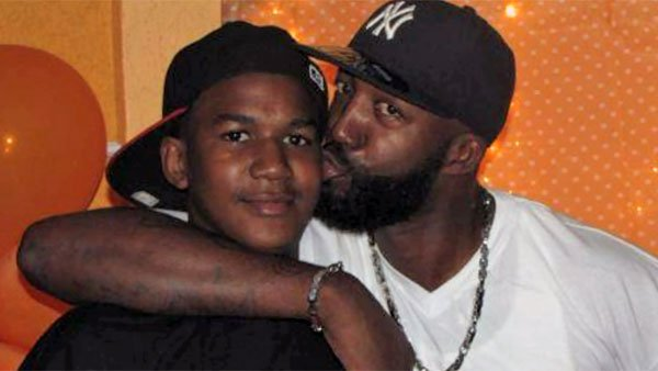 Trayvon Martin, 17, and his father Tracy Martin. (Source: CNN)