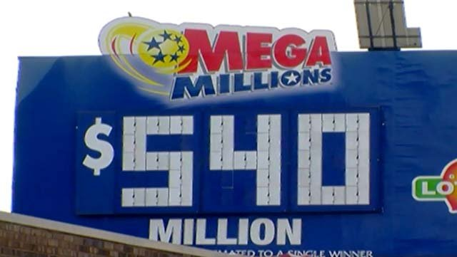 The Mega Millions jackpot is a record $540 million.