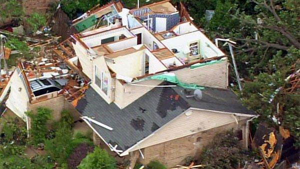 A tornado destroyed neighborhoods and homes in Lancaster, TX, however no fatalities have been reported. (Source: CNN)