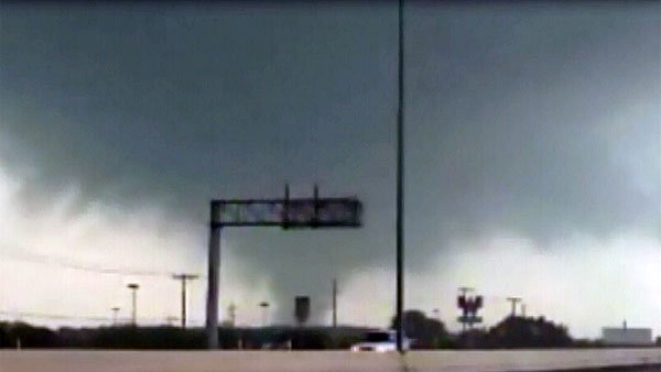 Multiple tornadoes have been reported near the Dallas-Fort Worth, TX, area Tuesday. (Source: WFAA/CNN)