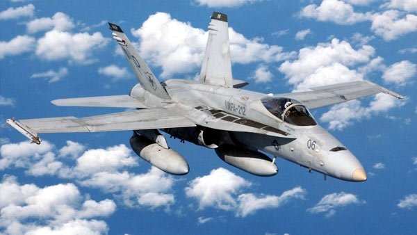 An F-18 fighter aircraft. (Source: Department of Defense)