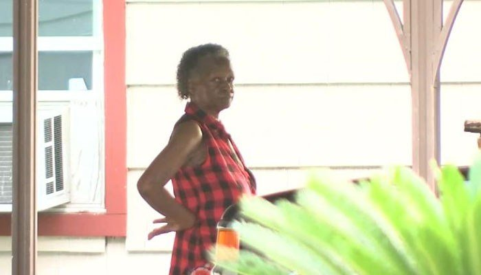 Grandma Jean, 68, fired one shot through her front door and struck the man in the chest. (Source: KTRK/CNN)