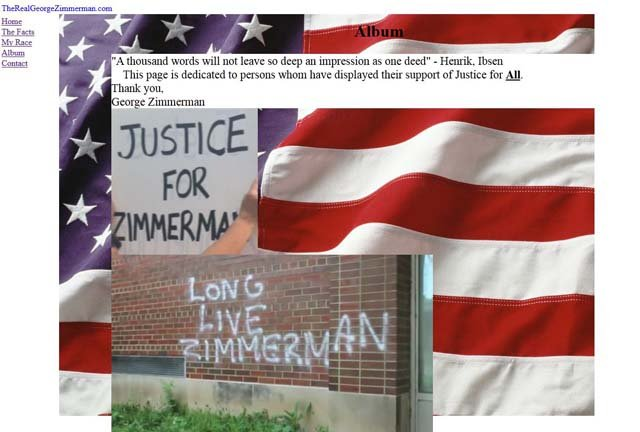 Zimmerman has launched a website seeking donations and thanking supporters.