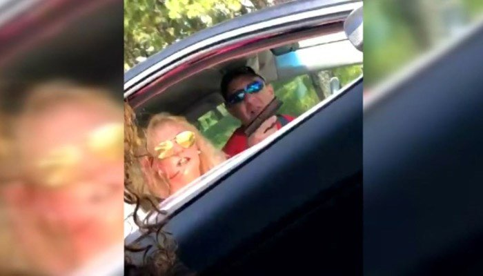 Tyra Jones took the photo and shared it on social media because she believes she's not the only one this couple has pulled a gun on. (Source: Tyra Jones/WPMI/CNN)