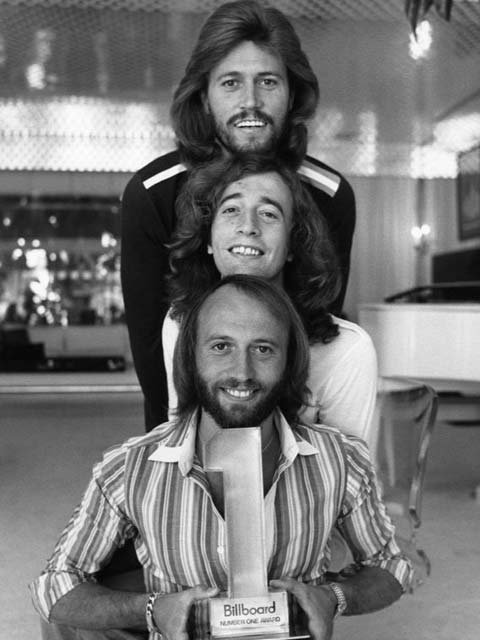 Robin Gibb, center, was one-third of the Bee Gees, along with brothers Barry and Maurice. (publicity photo)