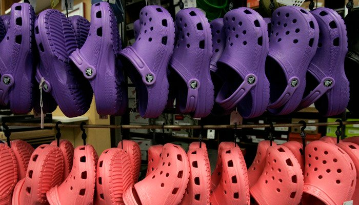 The company didn't say how it was going to handle future production of its footwear. (Source: Charlie Neibergall/AP)