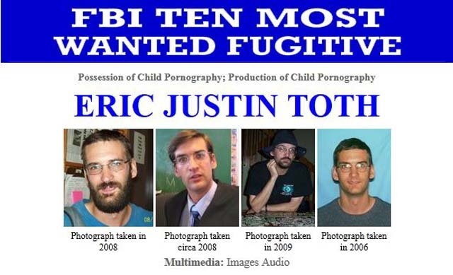 Eric J. Toth is now the FBI's Most Wanted fugitive, replacing Osama bin Laden. (Source: FBI)