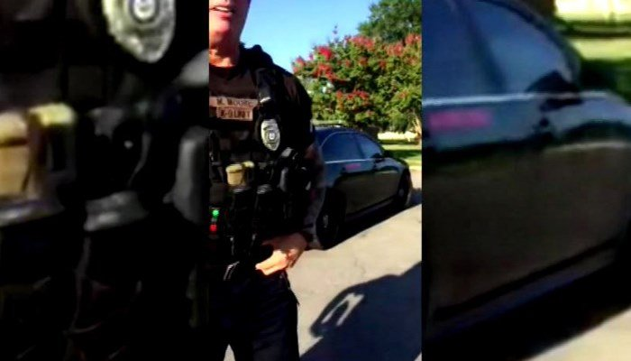 Officer Michael Moore was fired six hours after a video of the officer was aired. (Source: cellphone video/KATV/CNN)