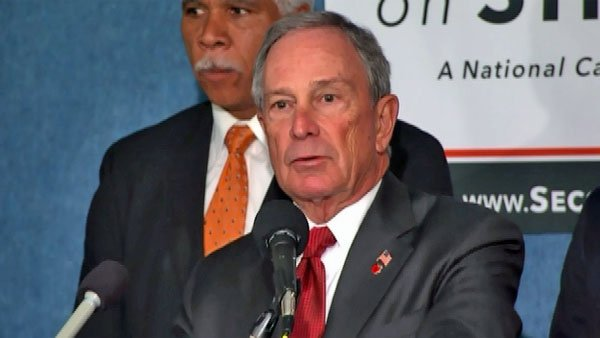 New York Mayor Michael Bloomberg announces the launch of the Second Chance on Shoot First campaign in Washington. (Source: CNN)