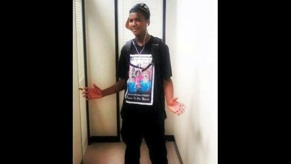 Trayvon Martin, 17, was killed by a single gunshot wound to the chest. (Source: Jerome Horton/CNN)