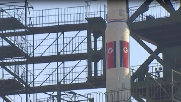 North Korea launched a rocket it called a weather satellite Thursday. (Source: CNN/YTN)