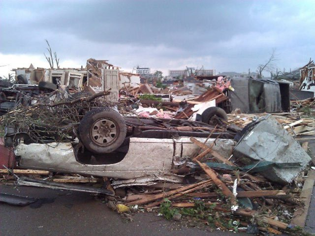 Damage from the tornado that struck Tuscaloosa, AL, on April 27. (Source: WSFA)