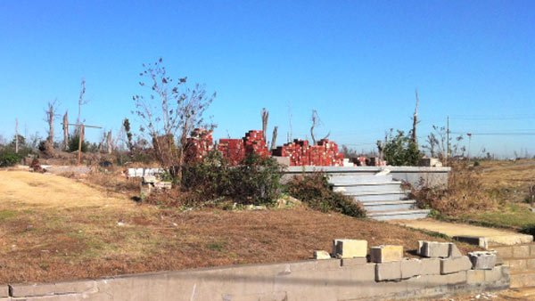 A tornado left little more than the foundation of Anthony's home. She'll soon move into a brand new home, another step in her journey to regain her independence. (Source: The University of Alabama at Birmingham)