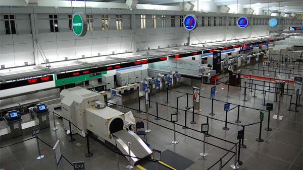 Terminal 2 at the Minneapolis St. Paul International Airport was evacuated after the discovery of a suspicious bag, CNN reports. The ticket area of the airport is shown here. (Source: jpellgen/Flickr)
