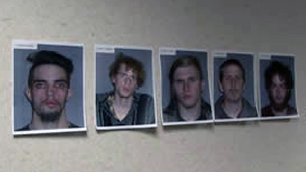 Douglas L. Wright, 26; Brandon L. Baxter, 20; Anthony Hayne, 35; Connor C. Stevens, 20; and Joshua S. Stafford, 23 (Source: WOIO)