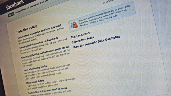 The Facebook privacy policy. (Source: RNN)