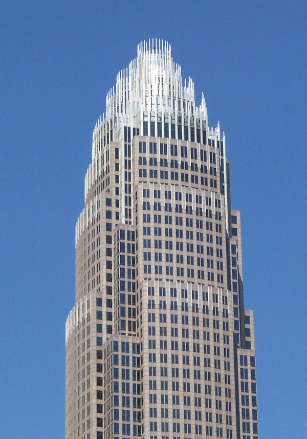 Bank of America headquarters building in Charlotte, NC.