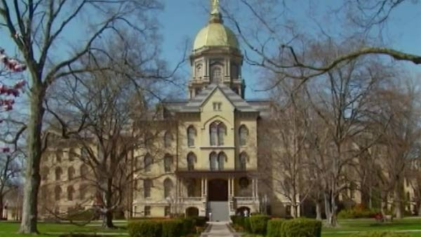 The University of Notre Dame is one of 43 plaintiffs who filed suit Monday against the Obama administration. (Source: CNN)