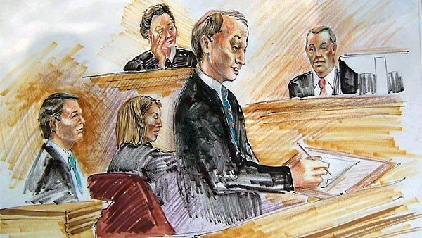 Andrew Young takes the stand during the Edward's trial. (Source: Jane Goodman-Smith/CNN)
