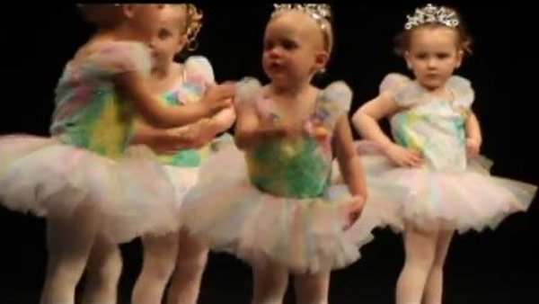 The video '2 year old Dance Recital Fight' has become a hit on YouTube. (Source: YouTube)