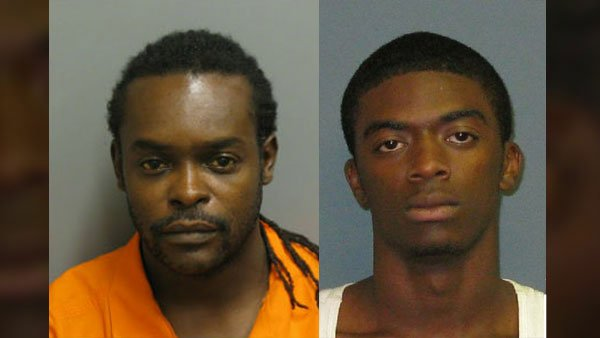 Gabriel Thomas, left, was arrested for providing false information to authorities while Jeremy Thomas, right, was arrested for hindering the prosecution. (Source: Montgomery Police Department/Auburn Police Division)
