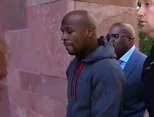 Floyd Mayweather reported to the Clark County Detention Center on June 1 (Source: KVVU)