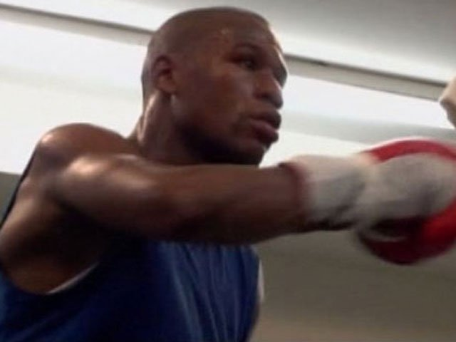 Mayweather is an eight-time champion in five different weight divisions. (Source: Mayweather/Golden Boy Promotions/CNN)