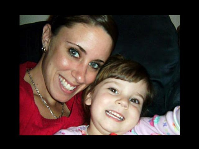 Casey Anthony is shown with her daughter, Caylee, shortly before Caylee's death. Casey Anthony was acquitted of her daughter's murder in July of 2011. (Source: Anthony Family)