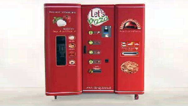 Let's Pizza, a vending machine that has been popular in Europe for the last three years, will make its way stateside soon. (Source: YouTube)