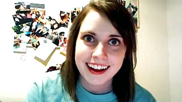"""Overly Attached Girlfriend"" is the star of an internet meme that probably did not go the way Justin Bieber imagined when he challenged his female fans to a video contest. (Source: YouTube)"