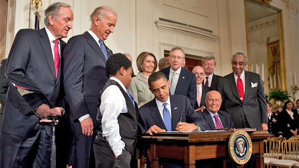 President Barack Obama signed the 2010 Affordable Care Act into law on March 23, 2010. (Source: Pete Souza/the White House)