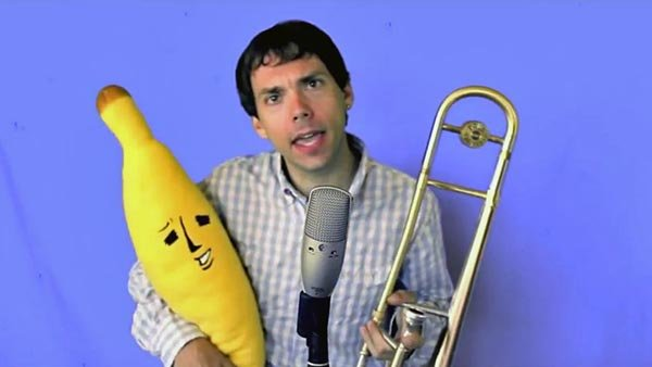 "Paul Nowell, simply known on YouTube as ""Paul the Trombonist,"" explains how the #hashtag originated in his latest video. (Source: YouTube)"