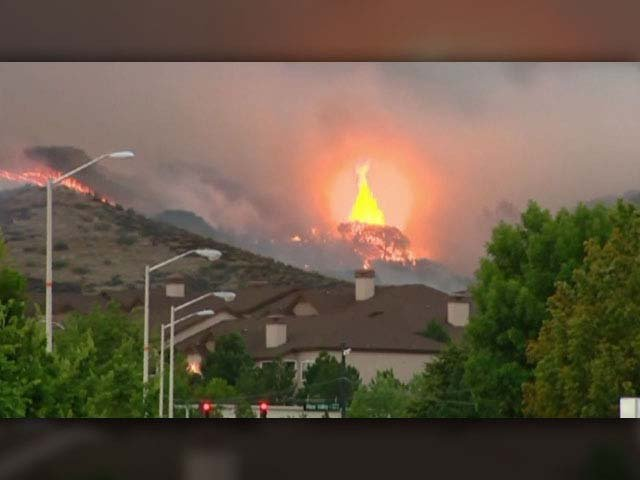 Wildfires that firefighters are struggling to contain are still burning in Colorado and several other parts of the West. (Source: CNN)