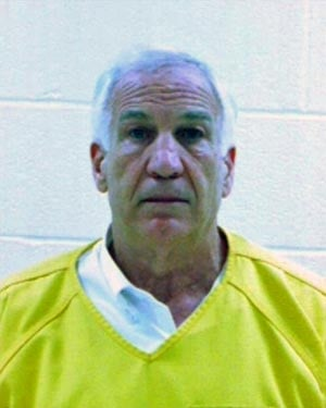 Jerry Sandusky was admitted to the Centre County Correctional Facility after he was found guilty on 45 criminal charges. (Source: Centre County Correctional Facility)