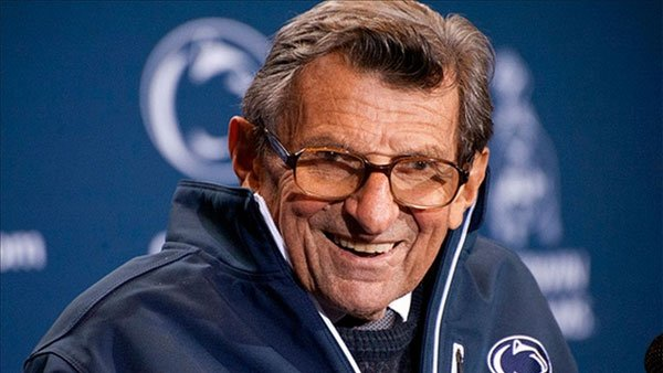 Joe Paterno was college football's most winningest coach when he was fired in the wake of the Jerry Sandusky child sex abuse scandal. (Source: Penn State)