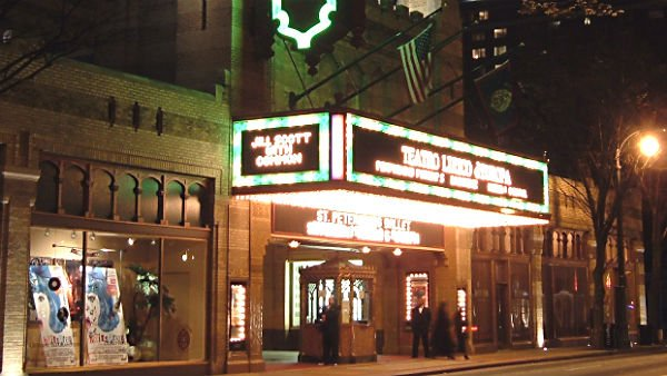 Several law enforcement agencies throughout the country have said security of patrons at theaters is a top priority this weekend. (Source: Wiki Commons/Scehardt)