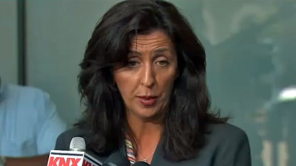 Criminal defense attorney Lisa Damiani speaks with reporters in San Diego. (Source: CNN)