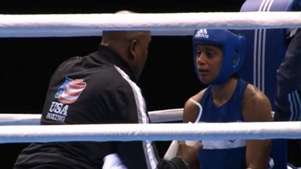 Queen Underwood is one of three Americans fighting for the first-ever Olympic gold medals in women's boxing. (Source: U.S. Embassy to England/YouTube)